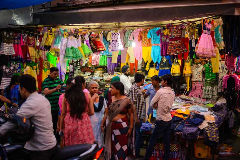 Shoppers at the Paharganj Bazaar