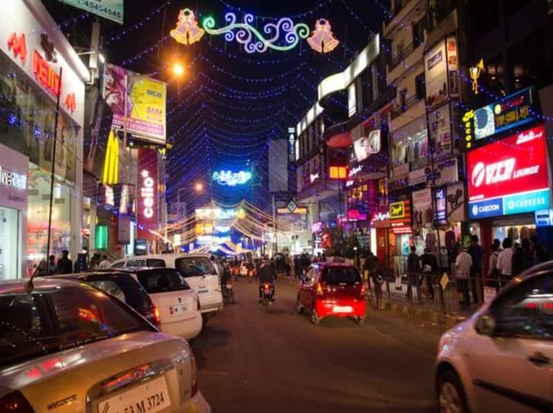 Shopping at M.G Road
