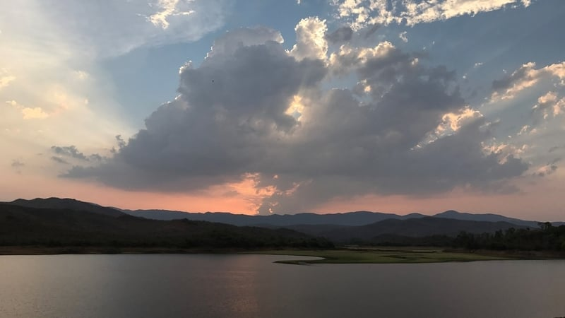 Sunset on the Ayyanakere Lake