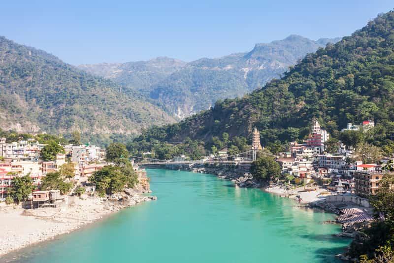 The beautiful landscape of Rishikesh