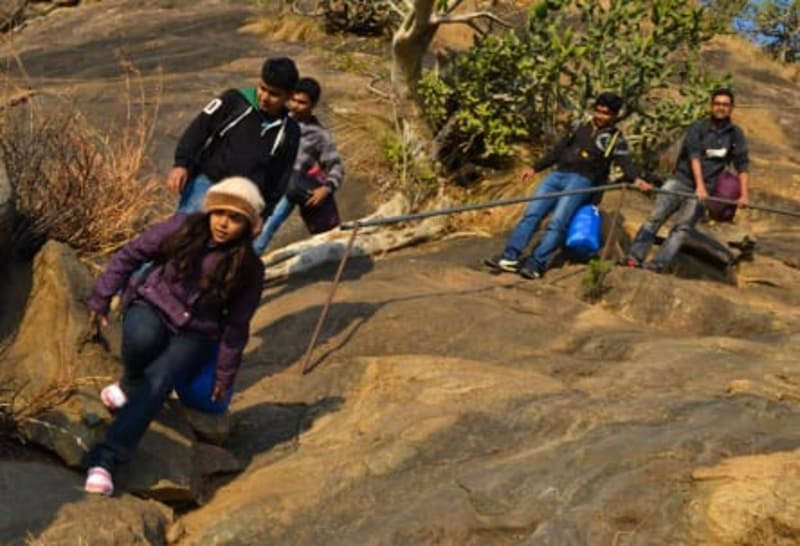 Trekking is a popular activity at this camp