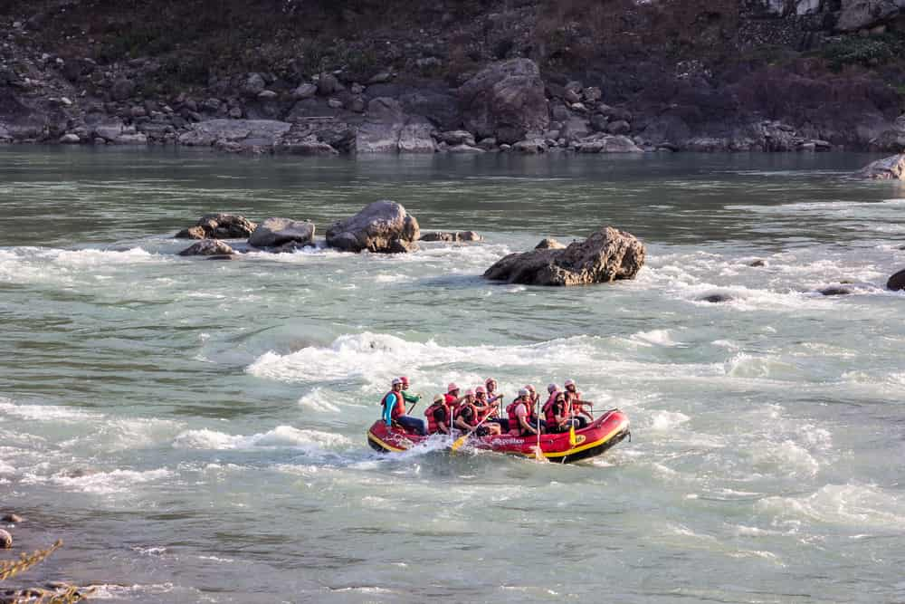 White water rafting at Rishikesh
