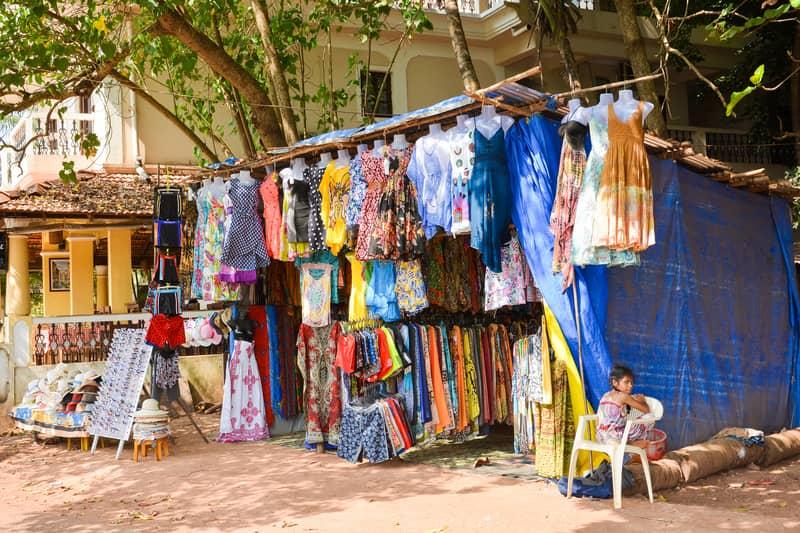 Baga Road stalls
