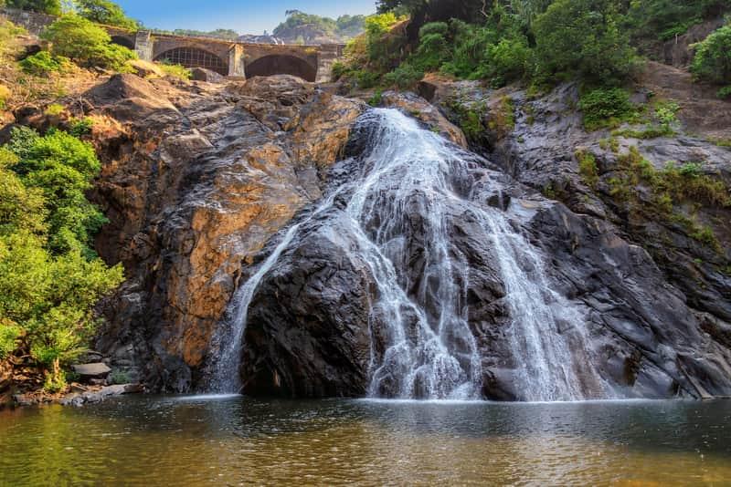 The gorgeous Dudhsagar Falls