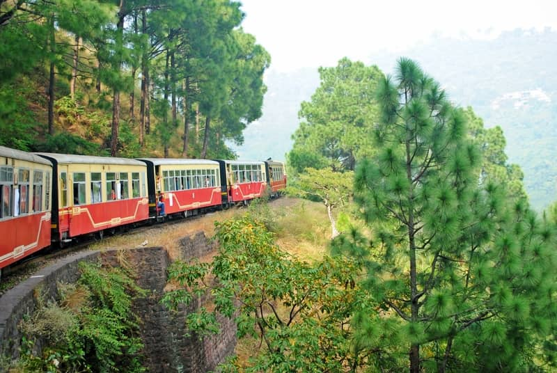 Take the toy train from Shimla to Kalka