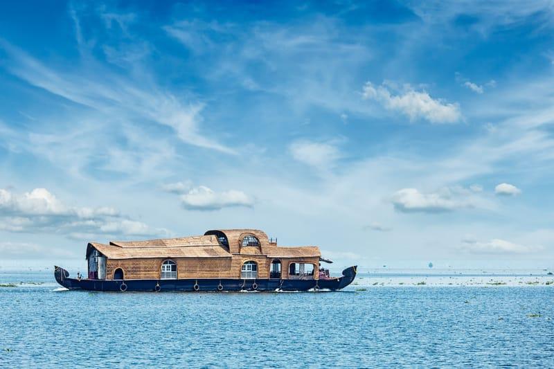 A Houseboat on the Vembanad Lake
