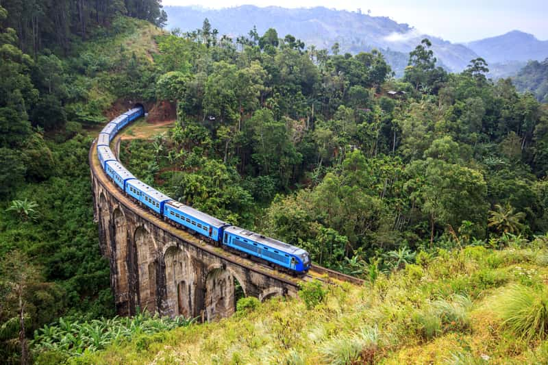 A train in Sri Lanka
