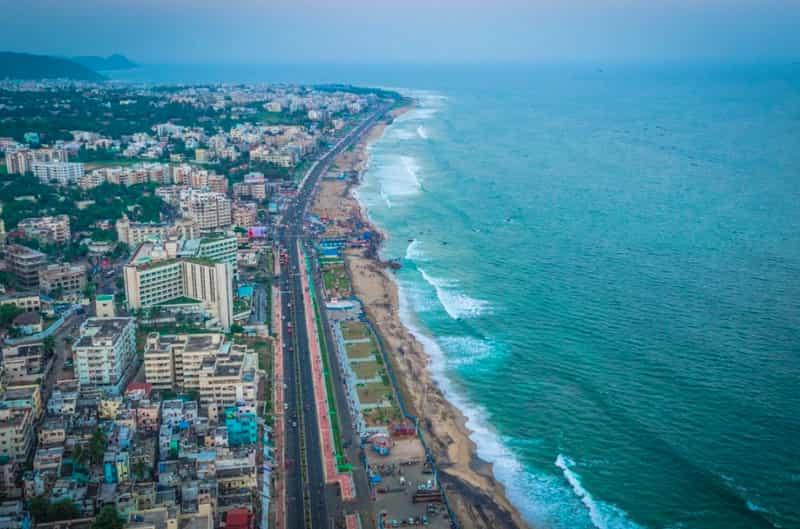 Aerial view of RK beach
