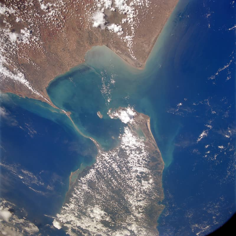 NASA image of Adam's Bridge