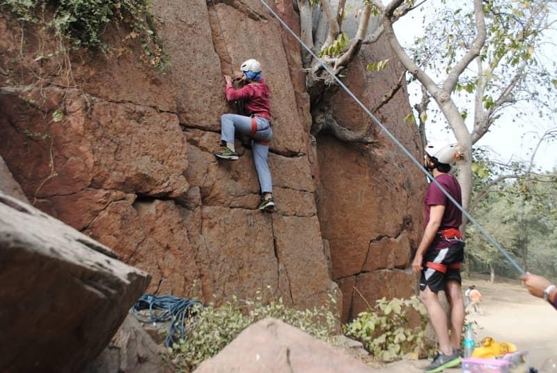 Rock climbing in Malshej Ghat