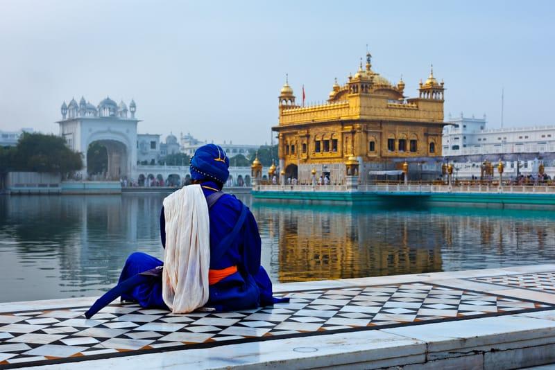 Sikh Nihang meditating at the Temple