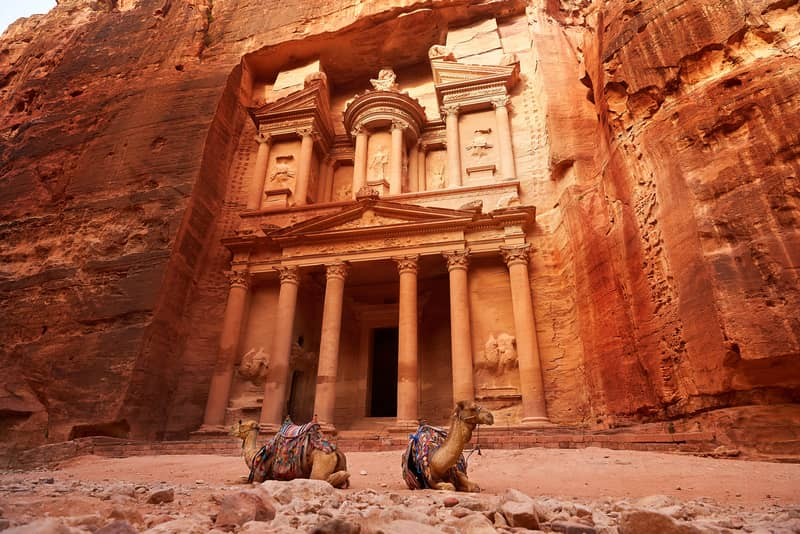 The Al Khazneh is a famous monument in Jordan