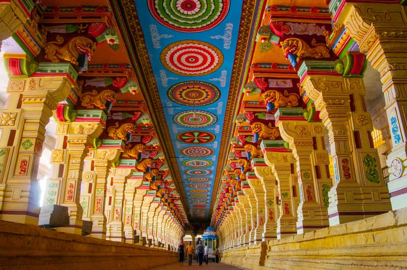 The Largest Hallway in India at the Ramanathaswamy Temple