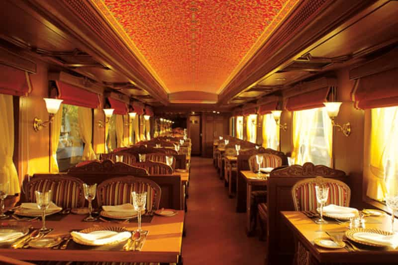 Dining Room inside the Maharaja's Express