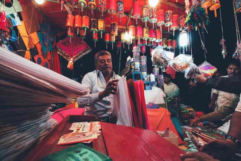 Kite vendor in Ahmedabad