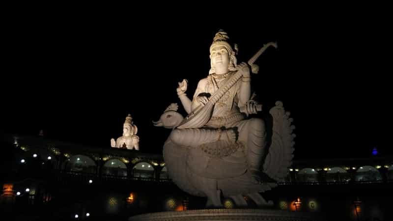 The Statue of Saraswati Devi at Shiva Temple