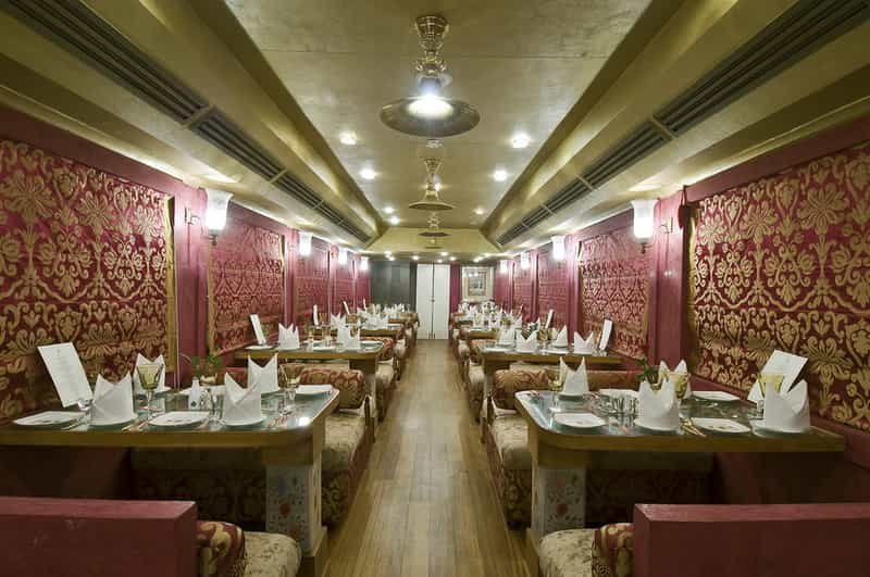 Dining The lounge in Palace of Wheels