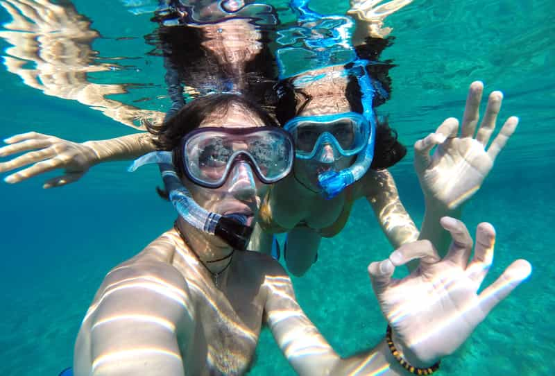 A Couple Snorkeling in Phillipines